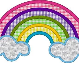 Rainbow Applique Machine Embroidery Digital Design