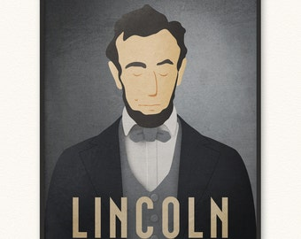 Abraham Lincoln • Minimalist Portrait Poster • Choose Style • Art Print • Honest Abe