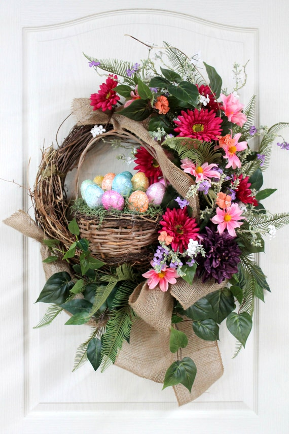 Items Similar To Easter Country Front Door Wreath Easter