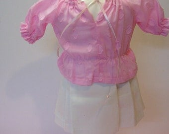 """Peasant top and Skirt for American Girl doll and other 18"""" dolls"""