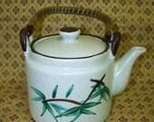 Bamboo Teapot Stoneware Teapot Speckled Teapot