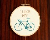 Bike Cross Stitch Pattern PDF - I Like My Bike