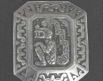 Antique Silver Buckle made in Peru