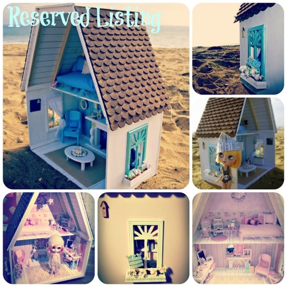 RESERVED Listing for Rachel. Custom Commissioned Cottage Dollhouse, NOT A KIT for Neo Blythe