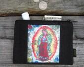 Our Lady Guadalupe Medium Hemp Coin Purse by Dharma Love