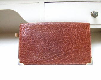 Danish Vintage Brown Leather Wallet