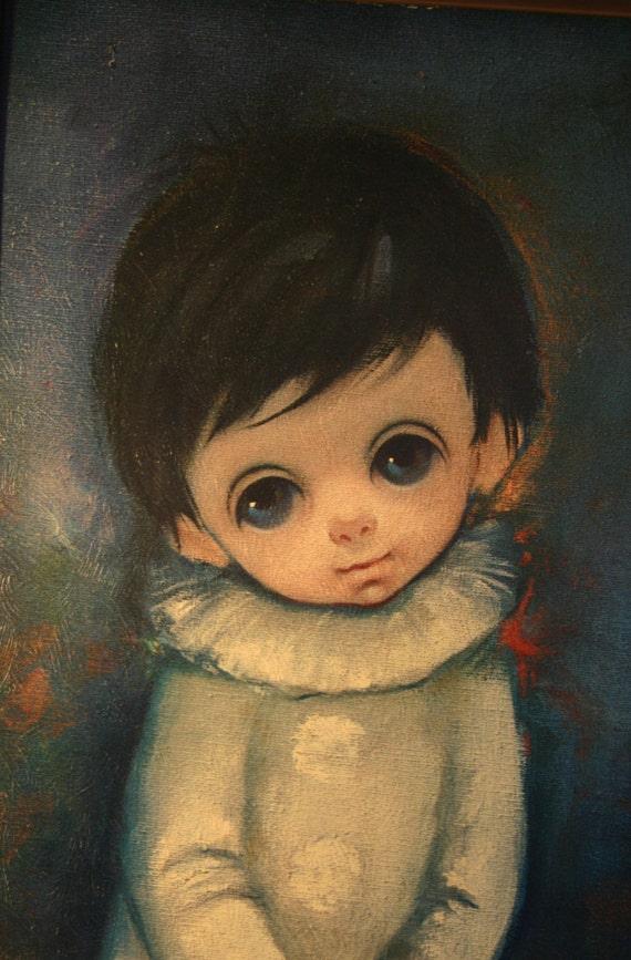 Sad Eyed Painting Kid's 1960s Art Picture Sad Eyed Boy | 570 x 867 jpeg 99kB