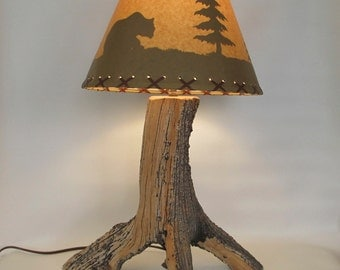 Natural Weathered Wood, Reclaimed Bristlecone Pine Lamp