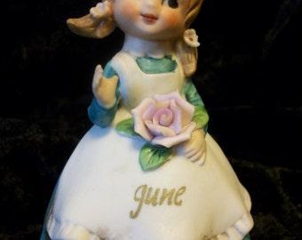June Birthday Figurine by Lefton