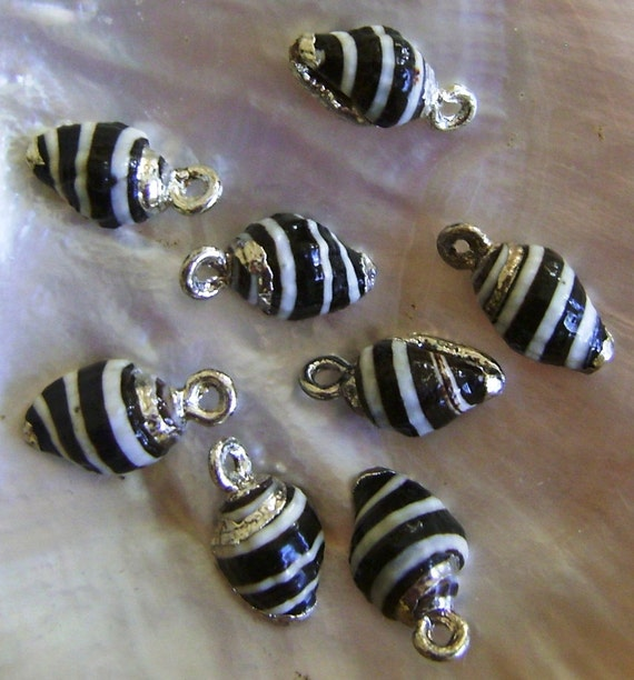 Sea Shell Jewelry Components Silver-Plated 8 pcs.
