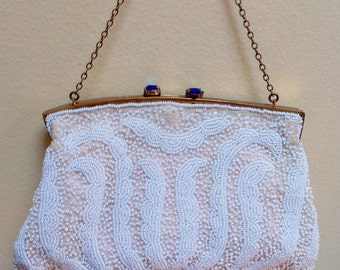 Vintage Evening Purse Beaded Saks Fifth Ave