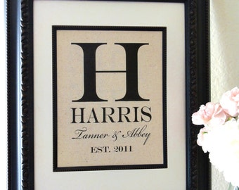 New- Cotton Anniversary Gift, Name and Est. Date, Gift for Anniversaries, Weddings, Engagements, Showers, Announcement