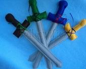 5 Handmade Felt Play Swords