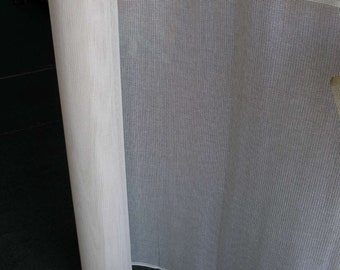 18 inches by 37 inches white blank needlepoing canvas 10 holes per inch interlock.