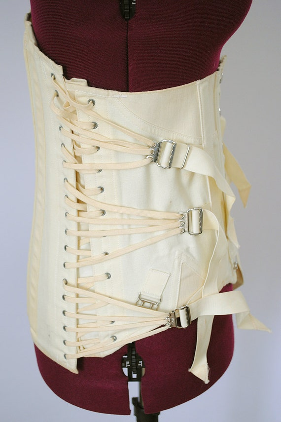 Vintage Corset Girdle Fan Bondage Fetish Medical CAMP