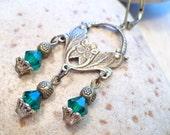 Flower Baskets Chandelier Crystals Earrings