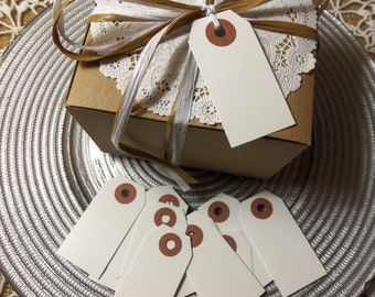 """50 WHITE Tags,  Small, 2 3/4"""" x 1 3/8"""" - Gift, Parcel, Wish Tags, Blank"""