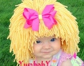 Cabbage Patch Hat, Beanie Wig, Children, Toddler, Pageant Costume, Cabbage Patch Inspired, Photo Props baby Clothes