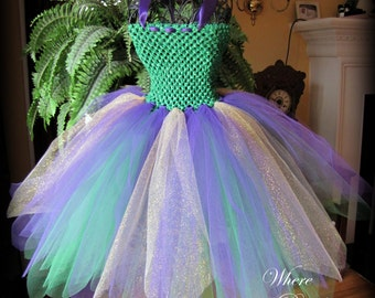 Mardi Gras Tutu Dress sizes 3-6m, 9-12m, 18-24m, 2t, 3t, 4t, 5t