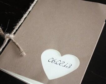 Wedding Programs with twine