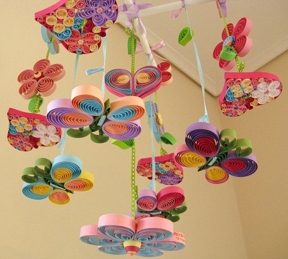 Crib mobile baby mobile nursery mobile butterfly mobile for Unusual baby mobiles