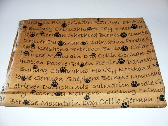 Cute Dog name Print fabric by Patty Reed Designs for Fabric Traditions