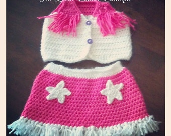 Cowgirl Vest & Skirt - Made To Order