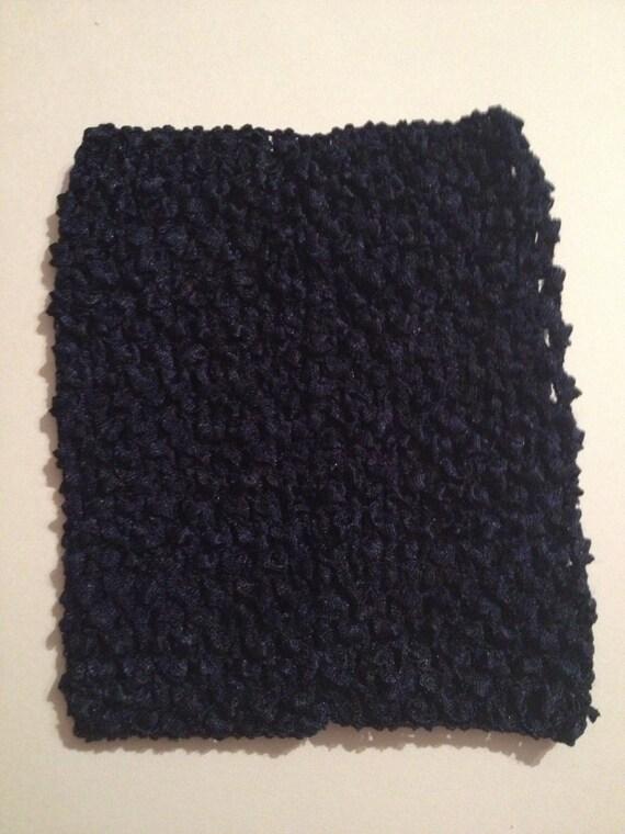 """Navy 6"""" Crochet Tube Top for Tutu Dresses"""