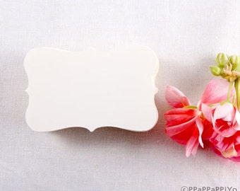 Mini Color Paper Business cards (50) paper Ivory - Blank