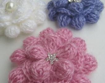 CROCHET FLOWER PATTERN, Crochet Brooch, Flower Brooch, Crochet Flower, Diy Flowers, Brooch Flower Instant Download Pdf Pattern No.85