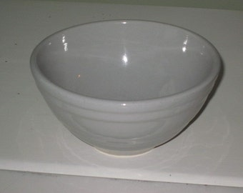 Vintage Small Gray Pottery Mixing Bowl part of Nesting Set