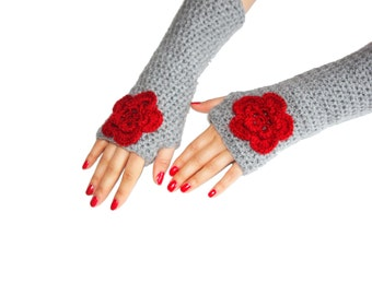 Handmade Gloves, Fingerless Gloves  Crochet mittens, Arm Warmers, Gift İdeas, Fashion Accessories,