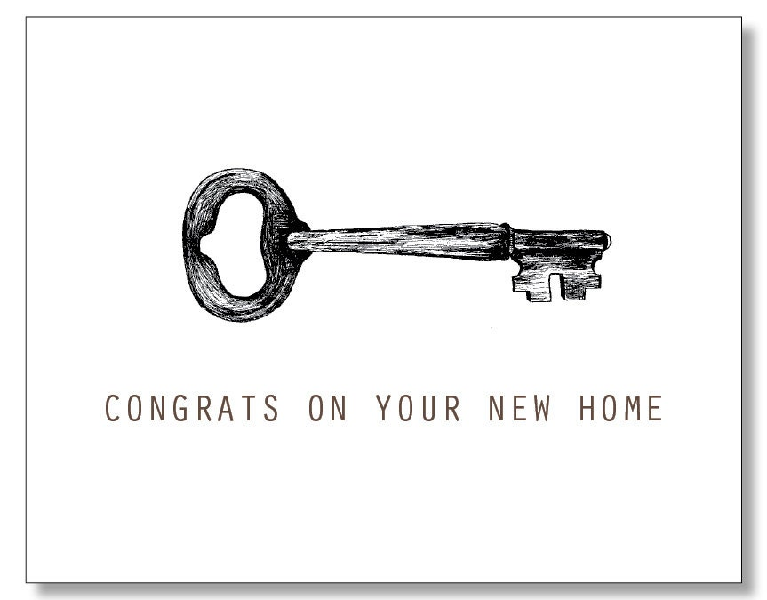 New Homeowner Card Congrats On Your New Home Housewarming
