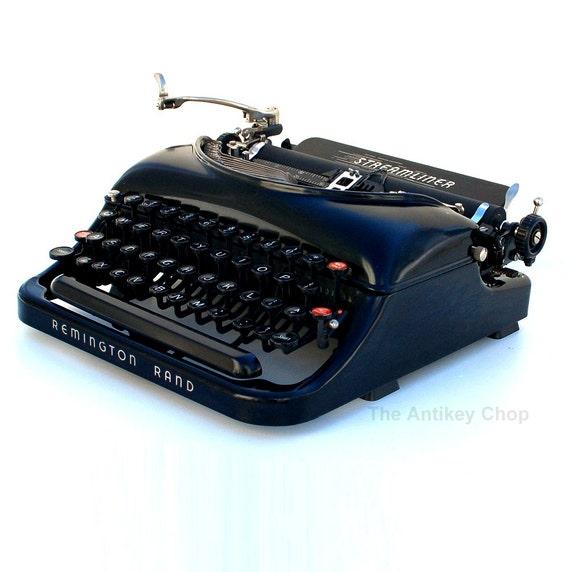 Revitalized Remington No.5 Streamliner Typewriter Professionally Refurbished Portable & Two New Ribbons