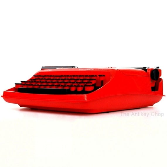 Revitalized Red Remington Starfire Typewriter Professionally Refurbished Portable & Two New Ribbons