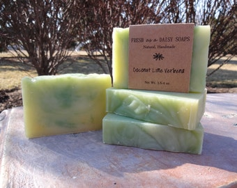 Coconut Lime Verbena, Natural Handmade Soap, Cold Process, Vegan