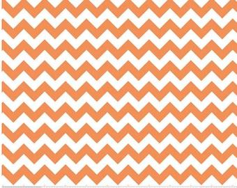 Small Chevron Orange  by Riley Blake Designs 1 yard cut