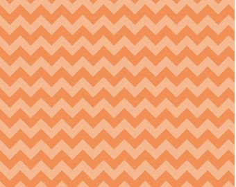 Small Chevron Tone on Tone Orange by Riley Blake Designs Fat Quarter Cut