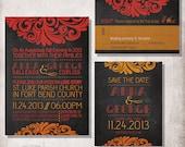 DIY Printable chalkboard Wedding Invitation