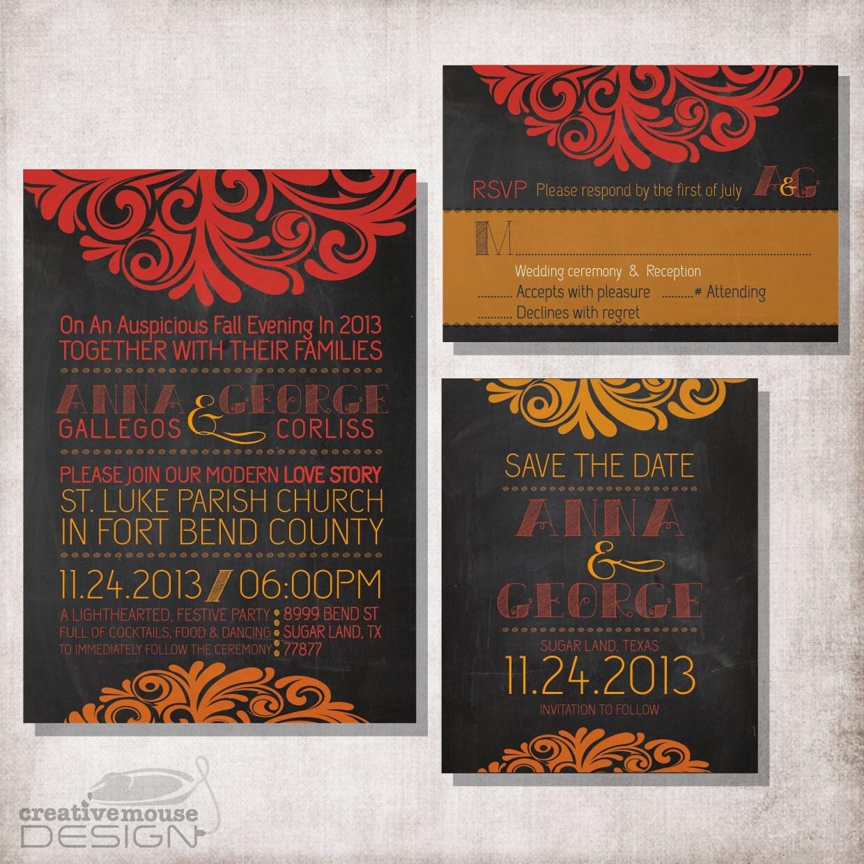 Diy Chalkboard Wedding Invitations: DIY Printable Chalkboard Wedding Invitation