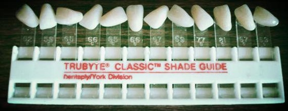 Trubyte Classic Color Shade Guide of Teeth for Dentist Dental