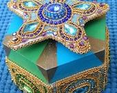 "Kaleidoscope Music Box, bead embroidered for EBEG Bead Fest ""Kaleidoscope"" theme"
