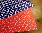 Modern Graphic Wrapping Paper - Set of 6 sheets - Red and Blue