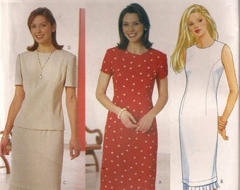 Butterick Sewing Pattern 6584 - Misses' Dress, Top, and Skirt (6-10)
