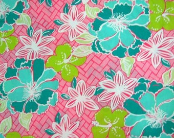 Beach Mat cotton poplin 8 X 32 inches  ~Authentic Lilly Pulitzer signature fabric~