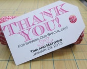 Items similar to Wedding Favor Tag - Gift Tag - Thank You For Sharing ...
