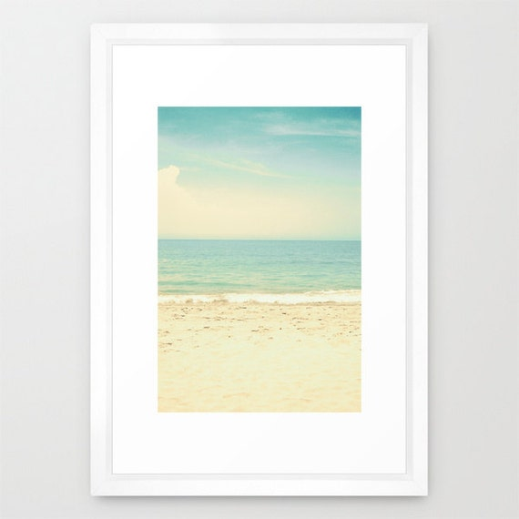SALE, Beach art, beach prints, beach wall art, beach photography, large art, large wall art, mint green decor, mint decor, ocean art, ocean