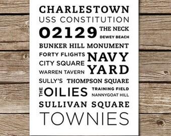 Charlestown Poster - 11x14