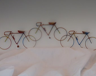 BICYCLE: THE RACE,copper,steel,bike sculpture,home decor,collectable