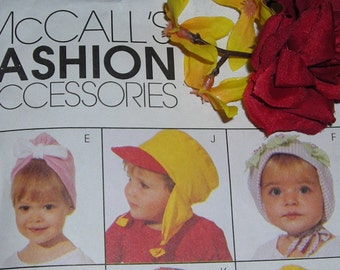 McCall's Pattern....Fashion Accessories....Infant and Children's Hat Patterns.....Sun Hats....Kepi.....Turban...12 Hats .....Patterns